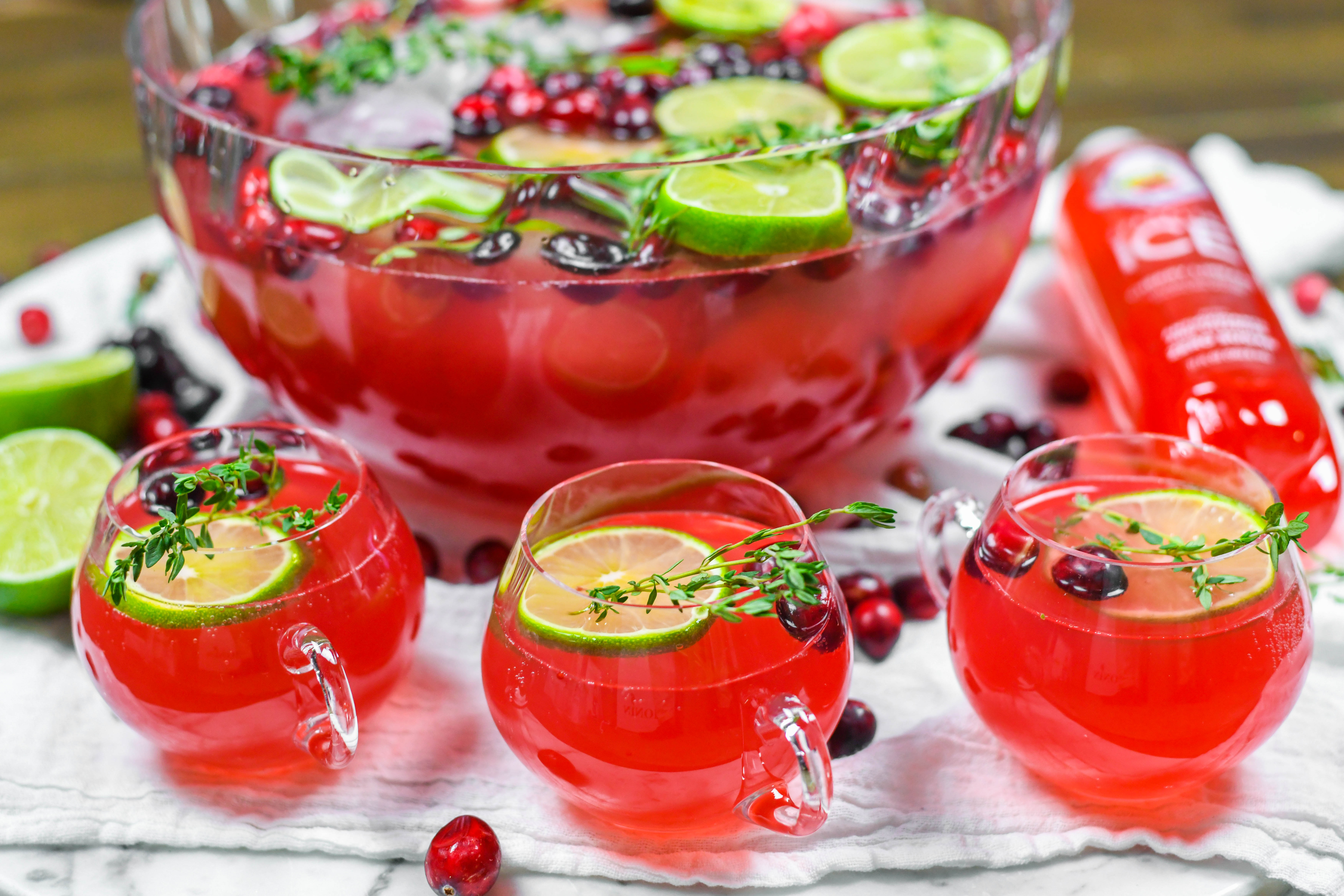 , Cheery Cherry Sparkling Punch