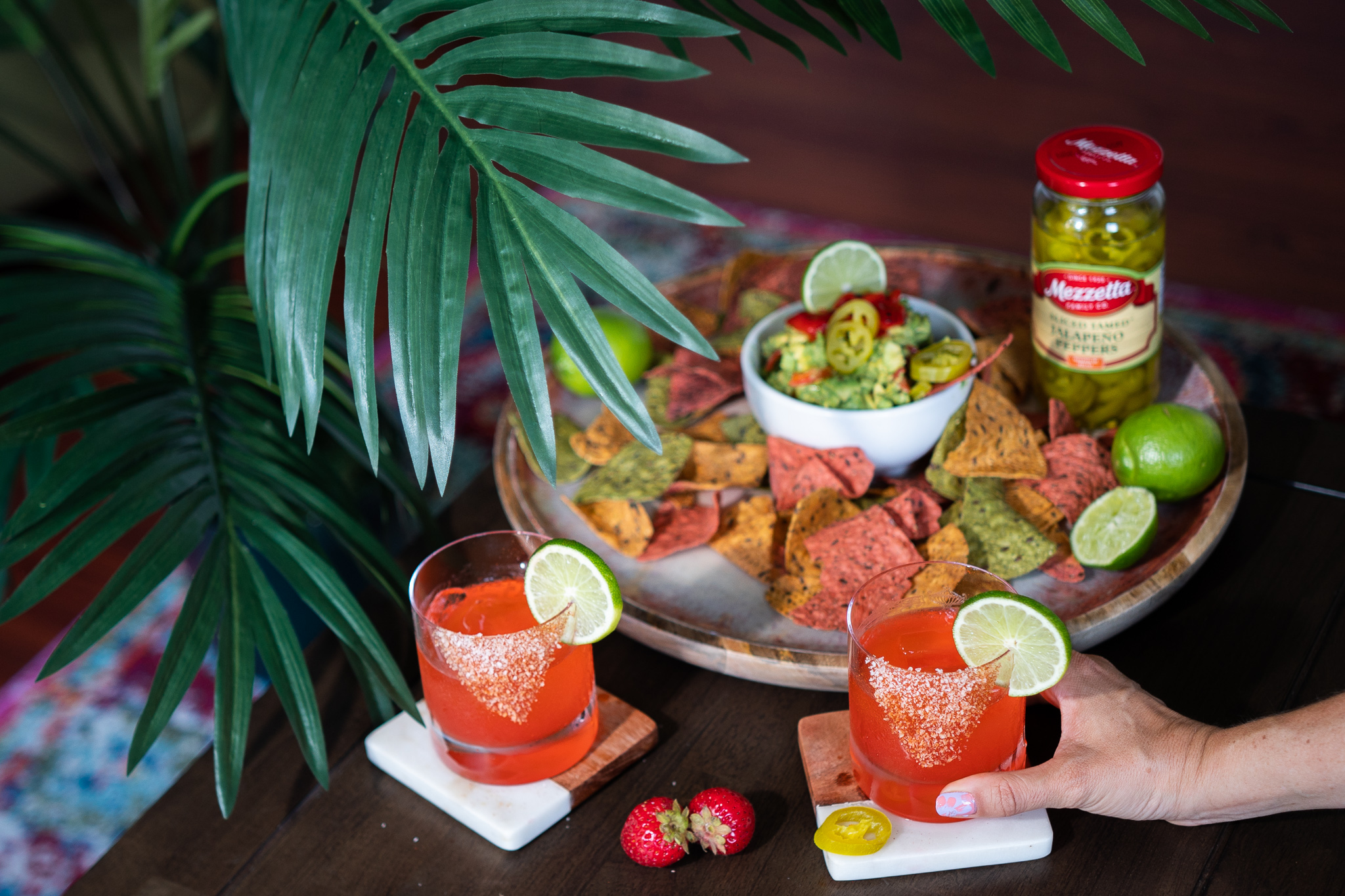 , Spicy Summery Strawberry Marg