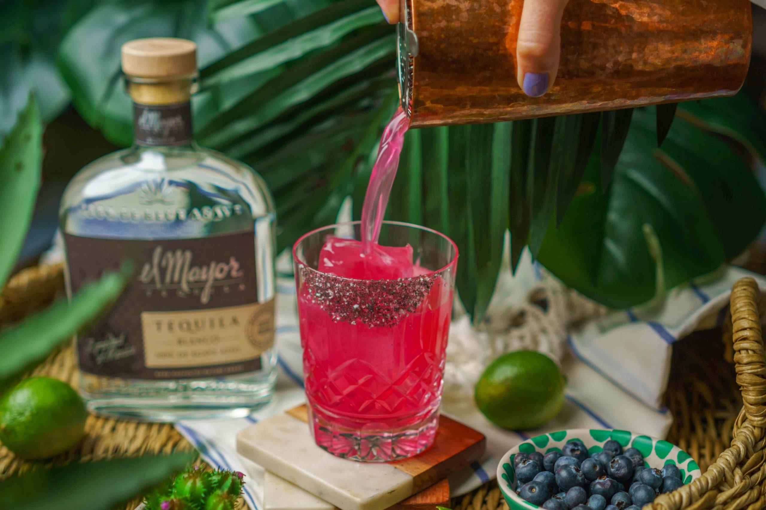 , Blueberry Margarita with El Mayor Tequila